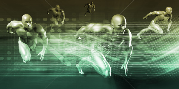 научный медицинской тело фон спортивных Сток-фото © kentoh