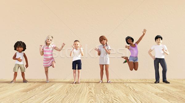 Happy Children Stock photo © kentoh