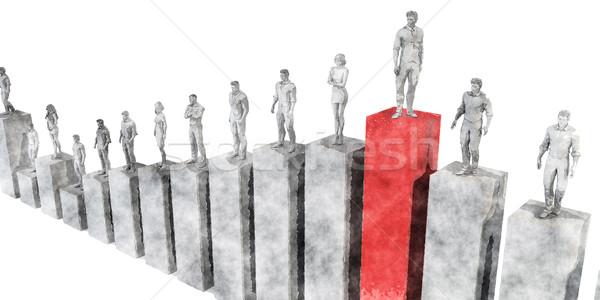 подняться корпоративного лестнице успех профессиональных продажи Сток-фото © kentoh