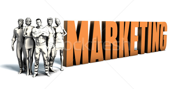 деловые люди маркетинга искусства команда бизнеса Сток-фото © kentoh