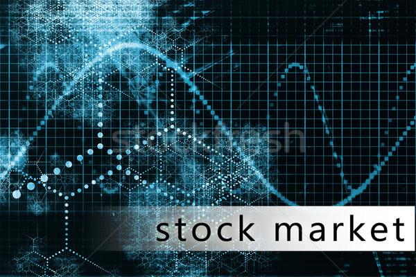 Tőzsde kék adat művészet üzlet absztrakt Stock fotó © kentoh
