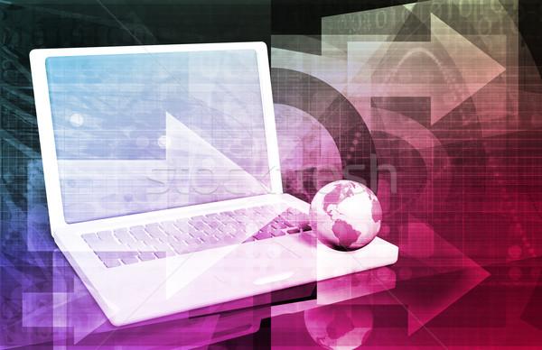 Internet absztrakt háló digitális üzlet textúra Stock fotó © kentoh