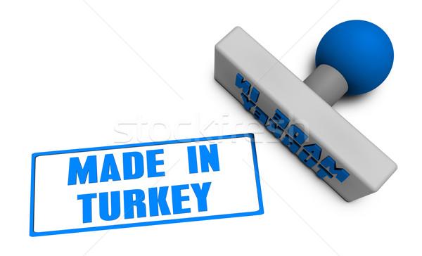 Törökország bélyeg kotlett papír 3D gyümölcsök Stock fotó © kentoh