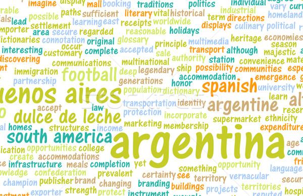 Аргентина стране аннотация искусства бизнеса продовольствие Сток-фото © kentoh