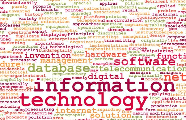 Tecnología de la información carrera industria ordenador resumen tecnología Foto stock © kentoh