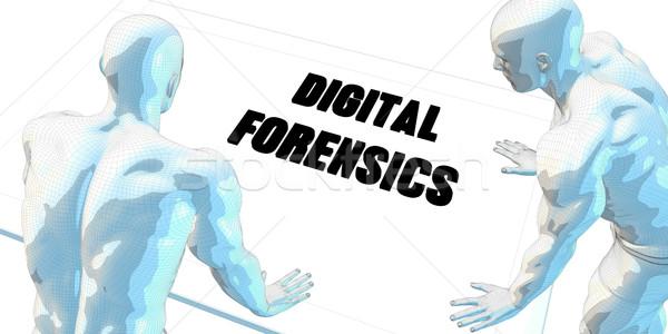 цифровой обсуждение деловое совещание искусства заседание фон Сток-фото © kentoh