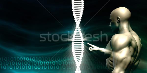 Dna menselijke testen biotechnologie technologie onderwijs Stockfoto © kentoh