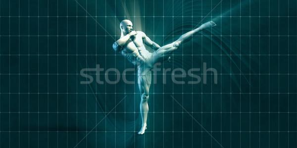Eğitim motivasyon ilham sanat uygunluk arka plan Stok fotoğraf © kentoh