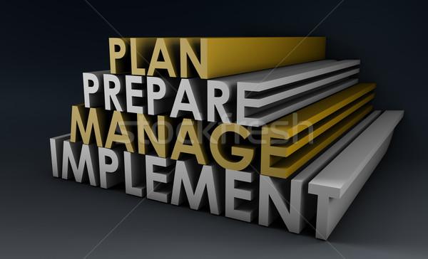 Yönetim planlama adımlar ağ konferans yürütme Stok fotoğraf © kentoh