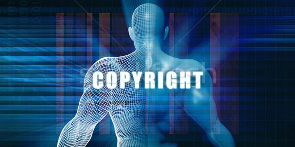Telif hakkı fütüristik soyut teknoloji Stok fotoğraf © kentoh
