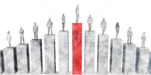 Climb the Corporate Ladder Stock photo © kentoh