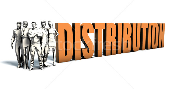 Business People Distribution Art Stock photo © kentoh