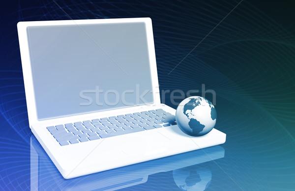 серфинга интернет ноутбука мира технологий ноутбук Сток-фото © kentoh