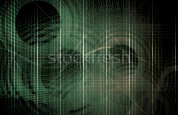 Futuristische technologie gegevens abstract business computer Stockfoto © kentoh