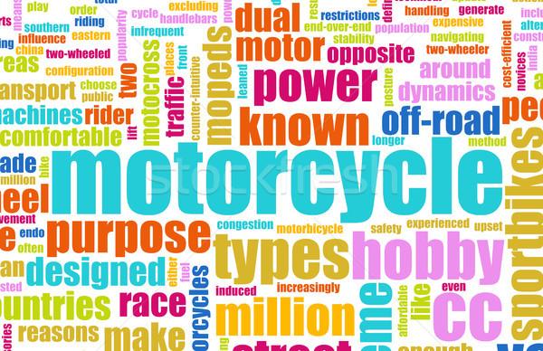オートバイ 趣味 楽しい 抽象的な 道路 デザイン ストックフォト © kentoh