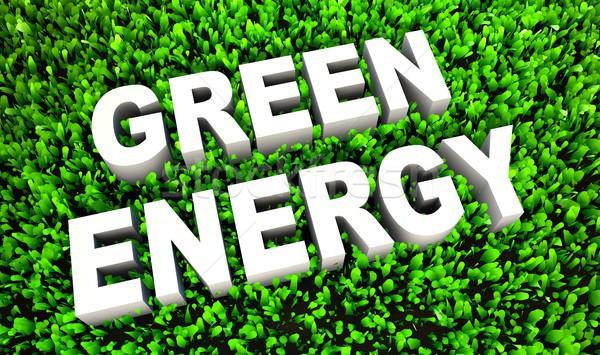 Groene energie milieuvriendelijk gras ontwerp achtergrond helpen Stockfoto © kentoh