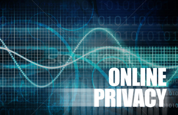 Online prywatność internetowych danych Internetu ochrony Zdjęcia stock © kentoh