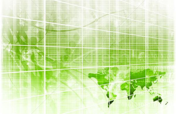 Numérique signal technologie résumé modèle art Photo stock © kentoh