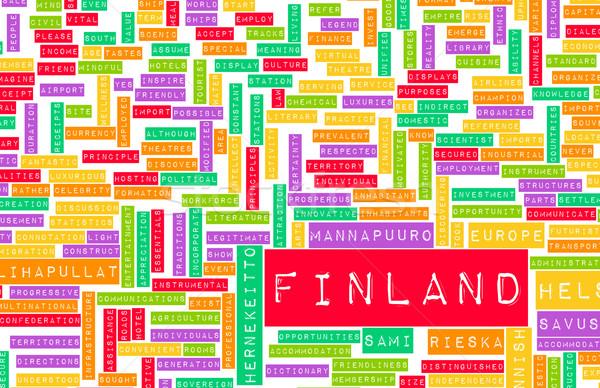 フィンランド ヘルシンキ 抽象的な 芸術 ビジネス 市 ストックフォト © kentoh