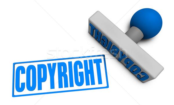 Telif hakkı damga pirzola kâğıt 3D temizlemek Stok fotoğraf © kentoh