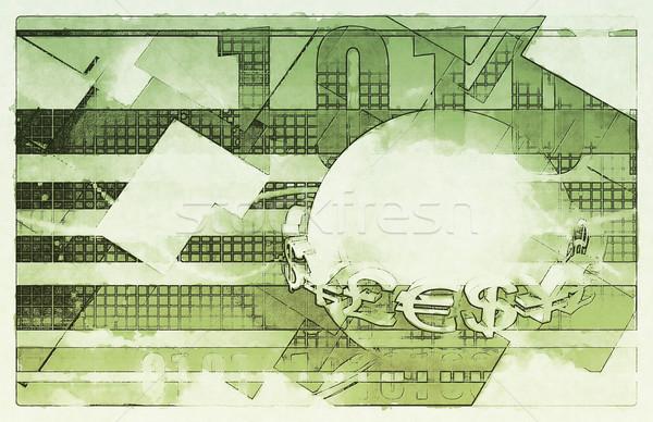 валюта событиях иностранный обмена фон Новости Сток-фото © kentoh