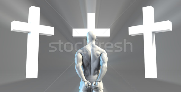 Stock photo: Inmate Converting to Christian Faith