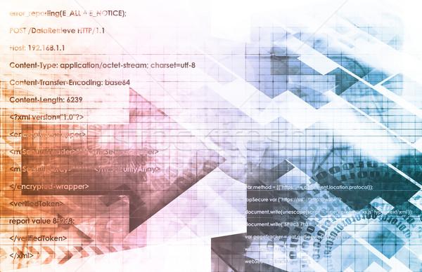 Digital comercialización línea mundo negocios resumen Foto stock © kentoh