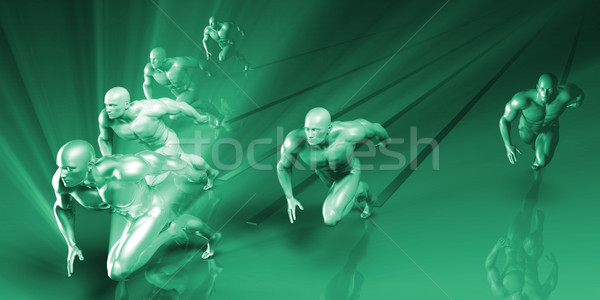 Sports Abstract Background Stock photo © kentoh