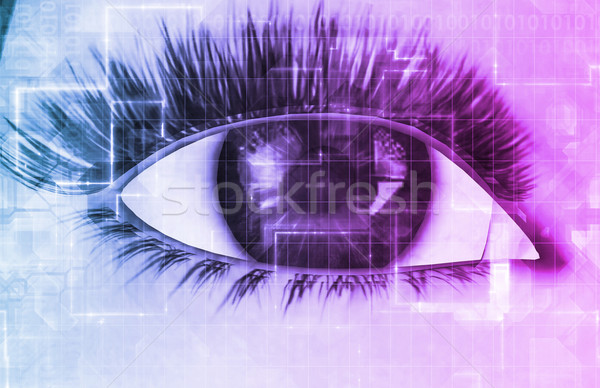 Cybernetic Eye Stock photo © kentoh