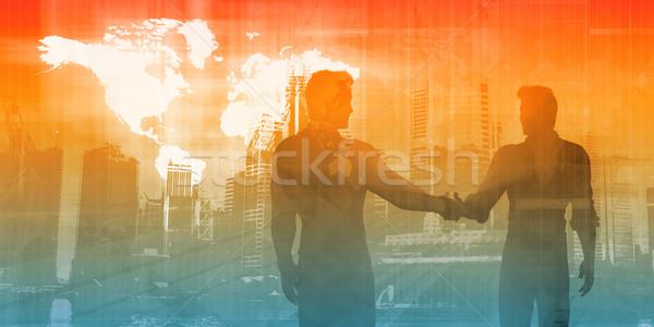 Fabrico indústria negócio abstrato arte projeto Foto stock © kentoh