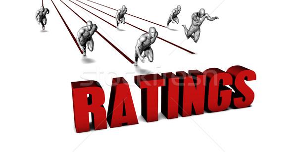 Jobb üzleti csapat versenyzés üzletember fut ipar Stock fotó © kentoh
