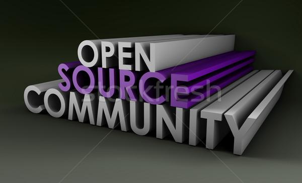 Stock photo: Open Source Community