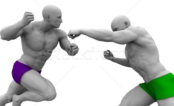 戦士 精神 男性 ビジネス スポーツ ストックフォト © kentoh