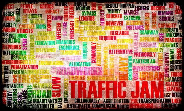 Korku frustracja drogowego miasta ruchu stres Zdjęcia stock © kentoh