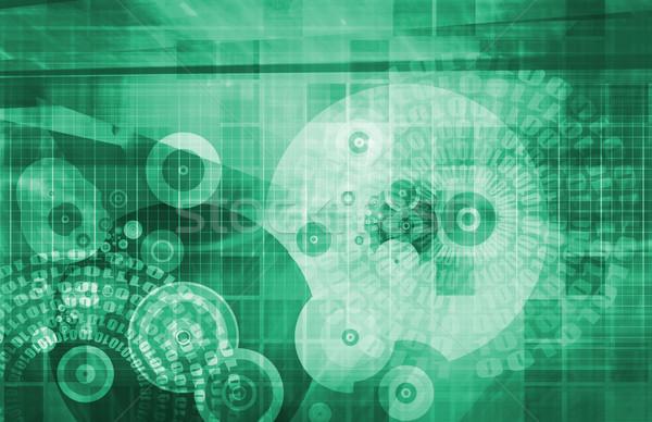 Hareketlilik teknoloji telefon arka plan ağ web Stok fotoğraf © kentoh