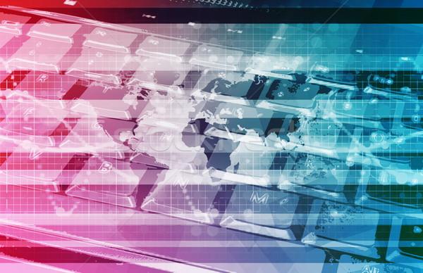 Globális informatika startup világ szerver háló Stock fotó © kentoh