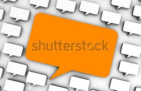 Online Werbung Social Media Chat Blasen Internet Stock foto © kentoh
