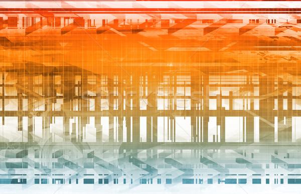 Avancé technologie industrielle fabrication ordinateur main Photo stock © kentoh