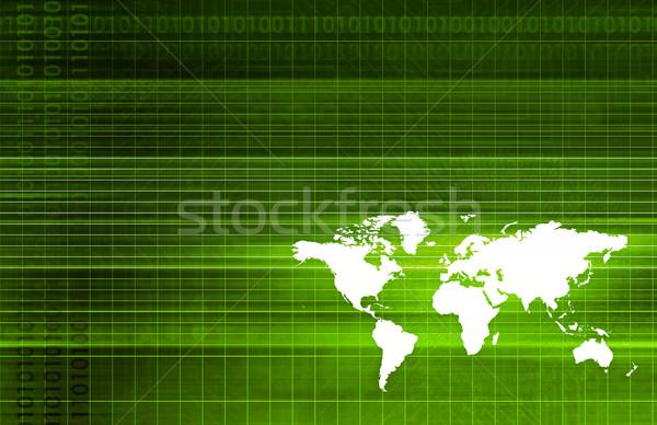 Global ortaklar ihracat ticaret yazılım sanat Stok fotoğraf © kentoh