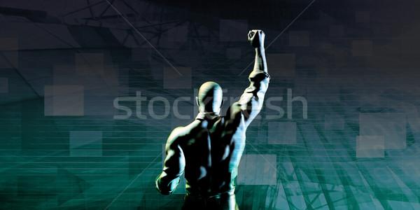 Hombre éxito negocios empresario industria Foto stock © kentoh