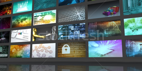 Digitale multimedia entertainment internet business televisie Stockfoto © kentoh