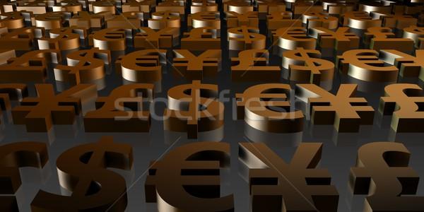 Valuta simboluri abstract lume fundal Imagine de stoc © kentoh