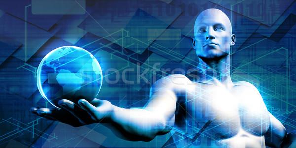 Visual Concept of Virtual Business Stock photo © kentoh