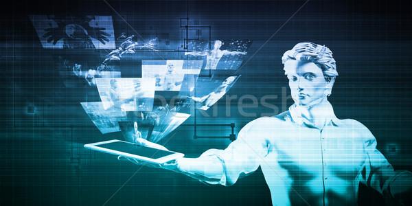 мультимедийные технологий содержание аннотация сеть связи Сток-фото © kentoh