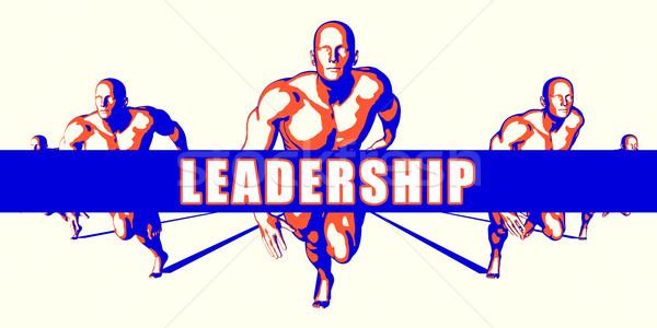 リーダーシップ 競争 実例 芸術 背景 オレンジ ストックフォト © kentoh