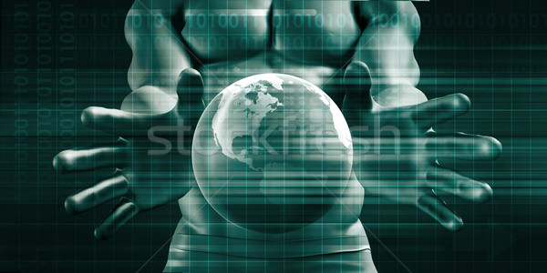 Globális kommunikáció hálózatok üzlet internet világ technológia Stock fotó © kentoh