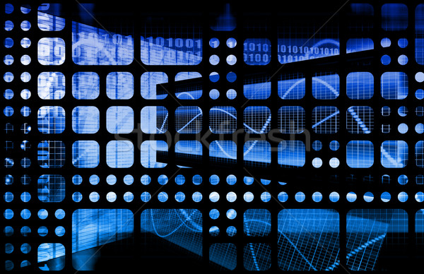 Daten Netzwerk schnell bewegen Computer Licht Stock foto © kentoh