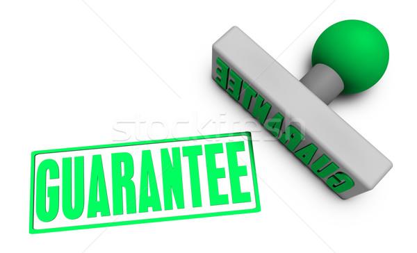 Garantir tampon papier 3D concept Photo stock © kentoh