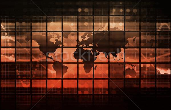 Bilgi teknolojisi veri ağ ofis arka plan kurumsal Stok fotoğraf © kentoh