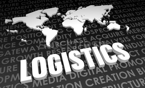 Lojistik sanayi global standart 3D harita Stok fotoğraf © kentoh